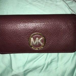 Burgundy Michael kors wallet